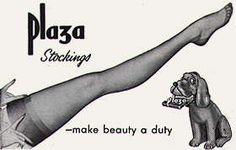 Plaza stockings vintage advertisement
