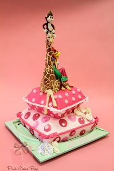 Ava's Birthday Giraffe Cake by Pink Cake Box