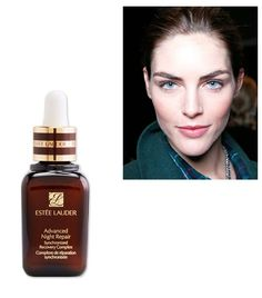 """Estee Lauder's Advanced Night Repair ($55) before bed and a massage in the morning: """"Makeup artists at early morning shows always give a good face massage to get the blood flowing,"""" she says. """"Now I give them to myself! It's a good little trick that wakes you up and de-puffs your face."""""""