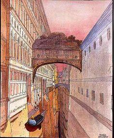 Venise Soupirs  by Moebius
