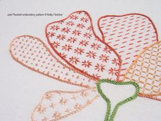 Just Plucked modern hand embroidery pattern por KFNeedleworkDesign