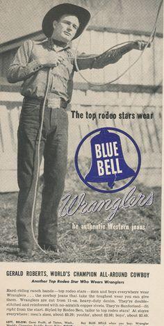 Vintage 1949,wranglers Jeans Advertising Print