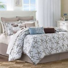 Beach Bedding Theme Comforters Twin Full Queen Kings The