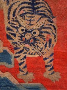 chinese Baotou tiger rug
