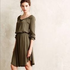 """Anthropologie -Oscala Shirtdress by Holding Horses -Long Sleeve -Pullover styling; runs big -Rayon -Machine wash -Model is 5'10"""" -36.5"""" from shoulder Anthropologie Dresses"""