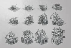 "Pirate Building ""Rum Storage"", Matthias Borchardt on ArtStation at http://www.artstation.com/artwork/pirate-building-rum-storage"