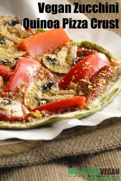 Vegan Zucchini Quinoa Pizza Crust