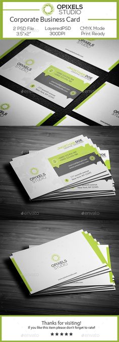 Corporate Business Card Template PSD #design Download: http://graphicriver.net/item/corporate-business-card/14503952?ref=ksioks