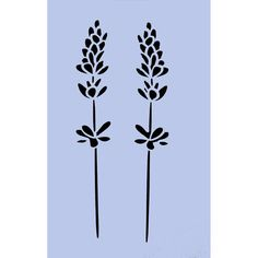 Lavender Farm Stencil - Flowers 189 x 297mm (7.5' x 11.5') Stencil for Furniture Painting Projects, Glass, Walls, Signs 022