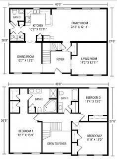 Unique Simple 2 Story House Plans 6 Simple 2 Story Floor Plans Cape House Plans House Plans 2 Storey House Layout Plans