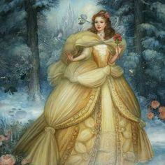 Belle or Cinderelle? Belle by @anniestegg Cinderella by Kinuko Craft . . #disneywordmylove #belle #cinderella