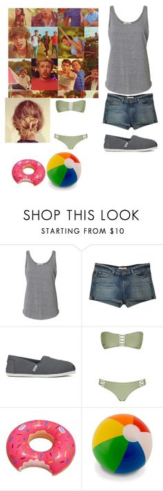"""""""Live While We're Young"""" by queenroyal54 ❤ liked on Polyvore featuring J Brand and TOMS"""