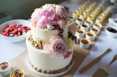 Wedding Cake - Especially Amy | Traditional Pink Wedding at Merriscourt