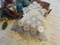 Amazing handmade antique needle lace jabot от CottageChicCoqueto