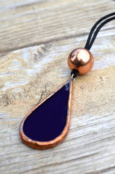 Stained Glass Jewelry Vanity Mirror Purple Tear Drop by BayouGlassArts, $38.00