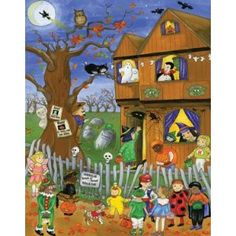 Halloween Countdown Calendar. Picture & Verse from Twas the Night Before Halloween in Each Window. Just $6- my kiddos will LOVE it!