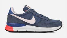 Nike Lunar Internationalist (New Slate/Summit White-Military Blue) Blue Sneakers, Sneakers Nike, Running Fashion, Nike Lunar, Nike Running, Classic Looks, Shades Of Blue, Slate, Retro Fashion