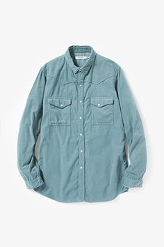 FARMER SHIRT COTTON CORD OVERDYED|SHIRTS|COVERCHORD