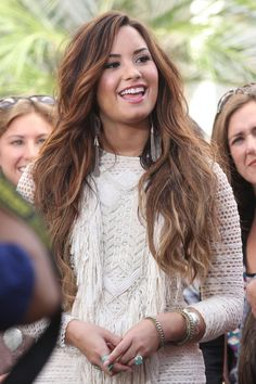 demi lavato long hair