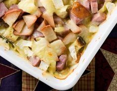 Ham, Brie and Pear Bake.