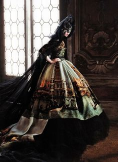 {Mourning dress} (Edie Campbell in A Cinderella Storyby David Sims for Vogue US 2013)