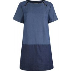 Use two fabrics on the Merchant and Mills Camber dress pattern.....