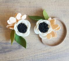 ANEMONE Single bloom / flower headband / felt by shopfeltinbloom