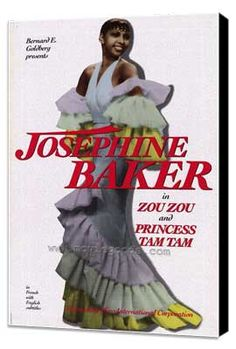 Josephine Baker - 11 x 17 Movie Poster - Style A - Museum Wrapped Canvas