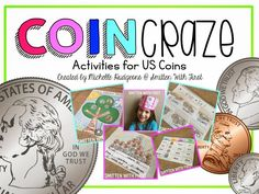 I finally compiled a few of my favorite coin activities...plus a few newbies in one pack! COIN CRAZE! It includes 13 activities plus a list of coin apps. Please note this pack was created with a 1st grade classroom in mind. Most of these activities could be simplified or advanced for a lower or higher grade level. | by Michelle Hudgeons