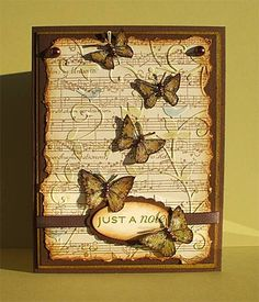 Flight of the Butterflies.  Love how they embossed and inked the music sheet.