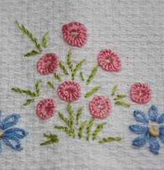Embroidery, flowers. 04.2015