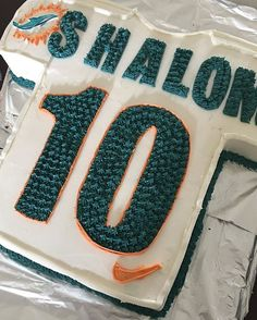 Dolphins Jersey Cake With A Boy Named Shalom Thanks For Ordering 3052158170 Buttercreamboy