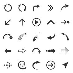 Arrows icons by Microvector on Creative Market