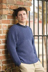 A great light men's crochet sweater.  Russell Sweater by Annette Petavy