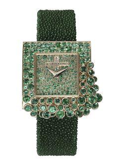 """La montre """"Sugar"""" signée De Grisogono http://www.vogue.fr/joaillerie/le-bijou-du-jour/diaporama/la-montre-sugar-signee-de-grisogono/12067"""