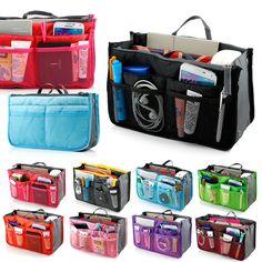Insert bolsa organizador bolsa forro grande Organizer Bag surpreendente mulheres viagens K5 em Bolsas de armazenamento de Em casa, Kitchen & Jardim no AliExpress.com | Alibaba Group