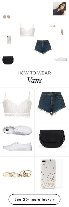 """""""the weekend"""" by synclairel on Polyvore featuring 3x1, Zimmermann, Sole Society, Vans, Maybelline, Kate Spade, GUESS, Christian Dior, Summer and cute"""