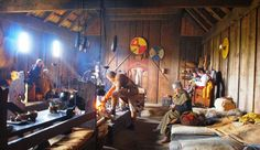 Inside a Viking longhouse. Image credit: Ribe Viking Center