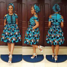 African Print Midi Dress plus FREE Headwrap - Ankara - African Dress - Handmade - Africa Clothing - African Fashion African Print Dresses, African Print Fashion, Africa Fashion, African Fashion Dresses, African Attire, African Wear, African Women, African Dress, Ankara Short Gown Styles