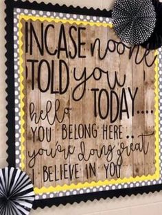 FREE Bulletin Board - Here is an example of my bulletin board using these letters and the letters for you to cut out! Staff Bulletin Boards, Bulletin Board Display, Bulletin Board Sayings, Classroom Themes, Classroom Organization, Classroom Management, Inspirational Bulletin Boards, Nurse Office, Beginning Of School