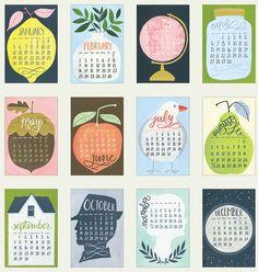 2014 Oversized Wall Calendar HUGE with wood hanger door 1canoe2 — Designspiration