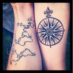 My compass is always set on you. | 33 Super Cute Best Friend Tattoos