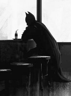 batman, black and white, and sad image Batman Arkham City, Batman Arkham Knight, Im Batman, Batman Art, Gotham City, Batman Stuff, Batman Robin, Batman Meme, Batman Poster
