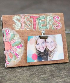 This 'Sisters' Canvas Photo Clip is perfect! #zulilyfinds