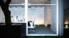 Office Concept by Ricardo Moreira, via Behance