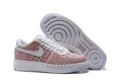 quality design 208c9 101b1 2016 Nike Air Force 1 Flyknit 36-39 Women Sneaker White Pink Authentic