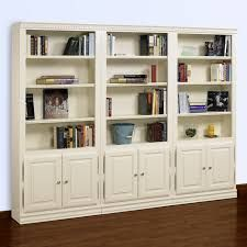 Image result for tall bookcase with doors without glass cream