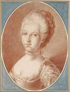 ATTRIBUÉ À FRANZ EDMUND WEIROTTER (INNSBRUCK 1730-1771) Portrait de Marie-Antoinette à l'âge de seize ans avec inscription 'Weirotter' et numérotation (verso) graphite, sanguine, estompe, filigrane blason avec deux aigles couronnés 51,8 x 39 cm. (20 3/8 x 15 3/8 in.)