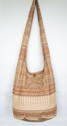 Casual Floral Beading Hobo Handbag Canvas Print Shoulder Bag