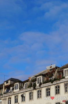 Lisbon old roofs.